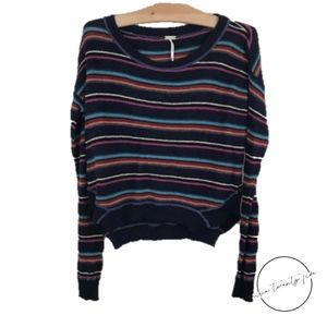 Free People FP Beach Knit Striped Sweater XS